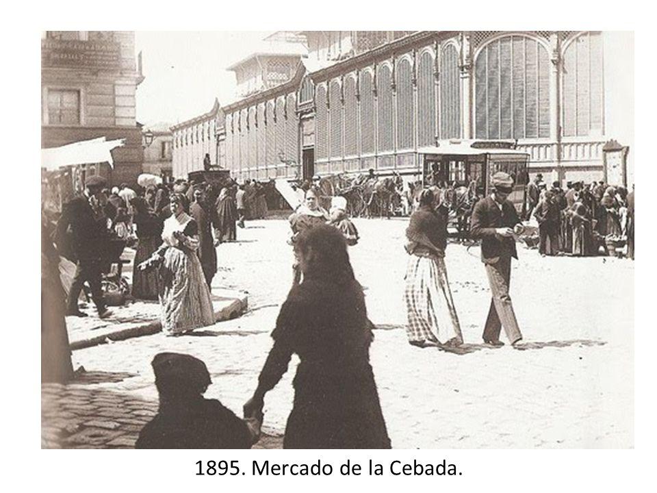 1895. Mercado de la Cebada.