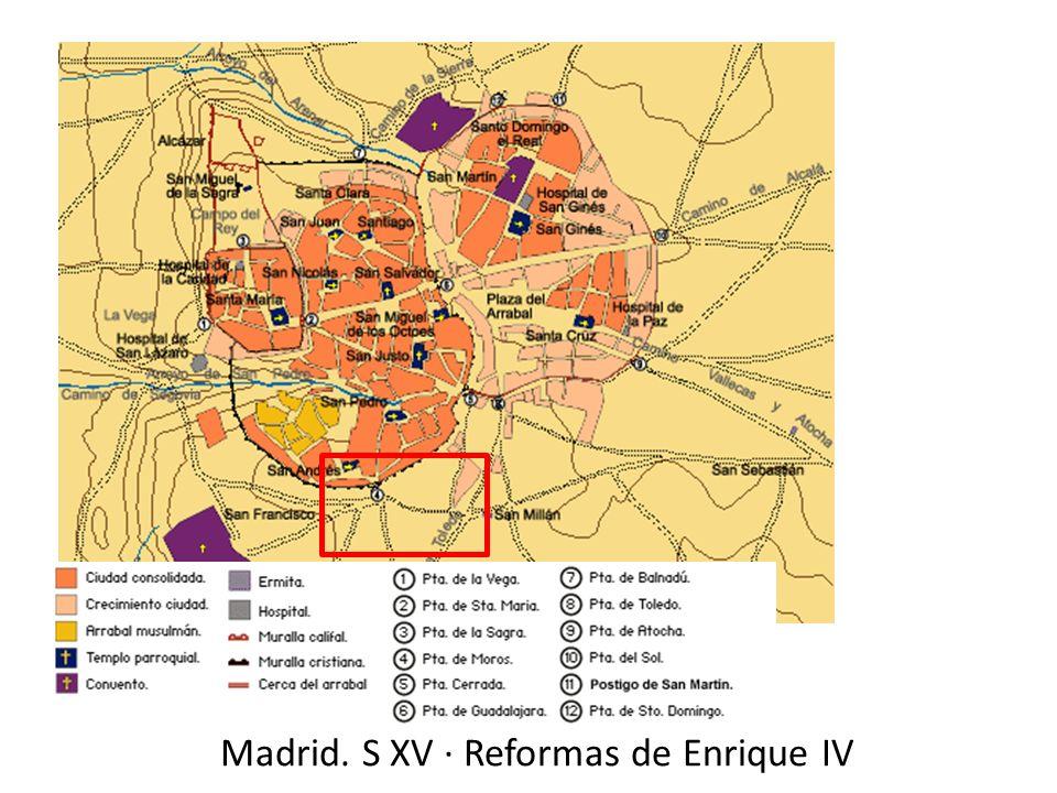Madrid. S XV · Reformas de Enrique IV