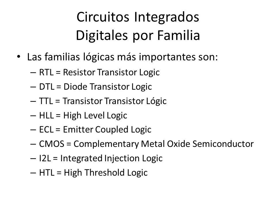 Circuitos Integrados Digitales por Familia