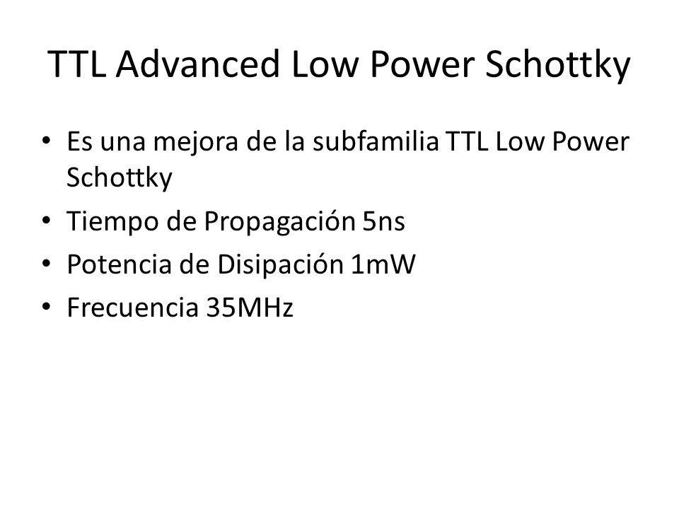 TTL Advanced Low Power Schottky