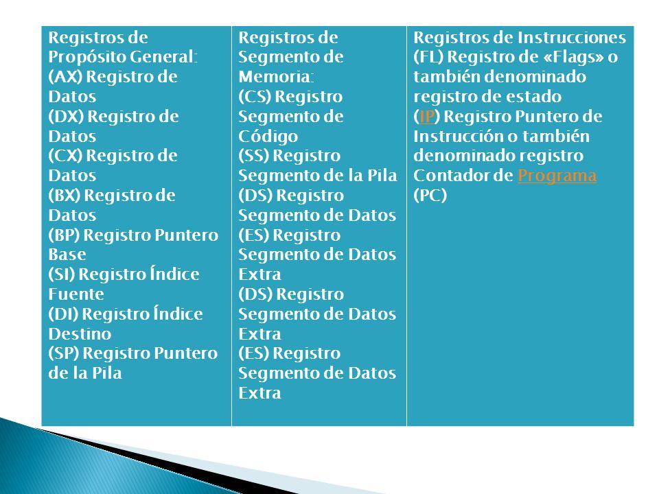 Registros de Propósito General:
