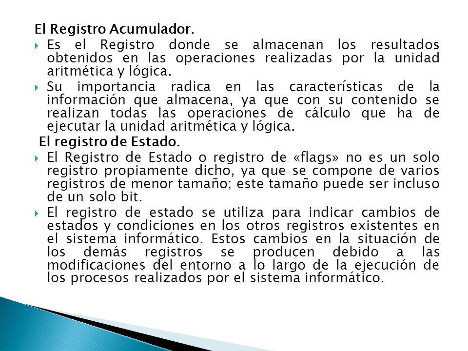 El Registro Acumulador.