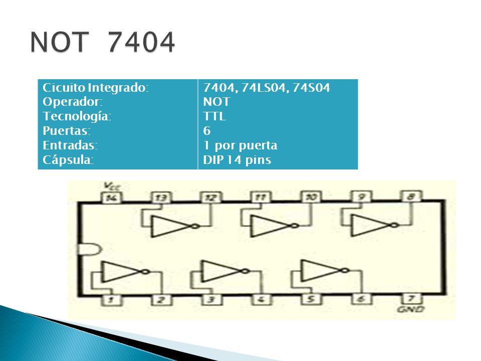 Circuito Integrado 7404 : Circuitos digitales estos se construyen con