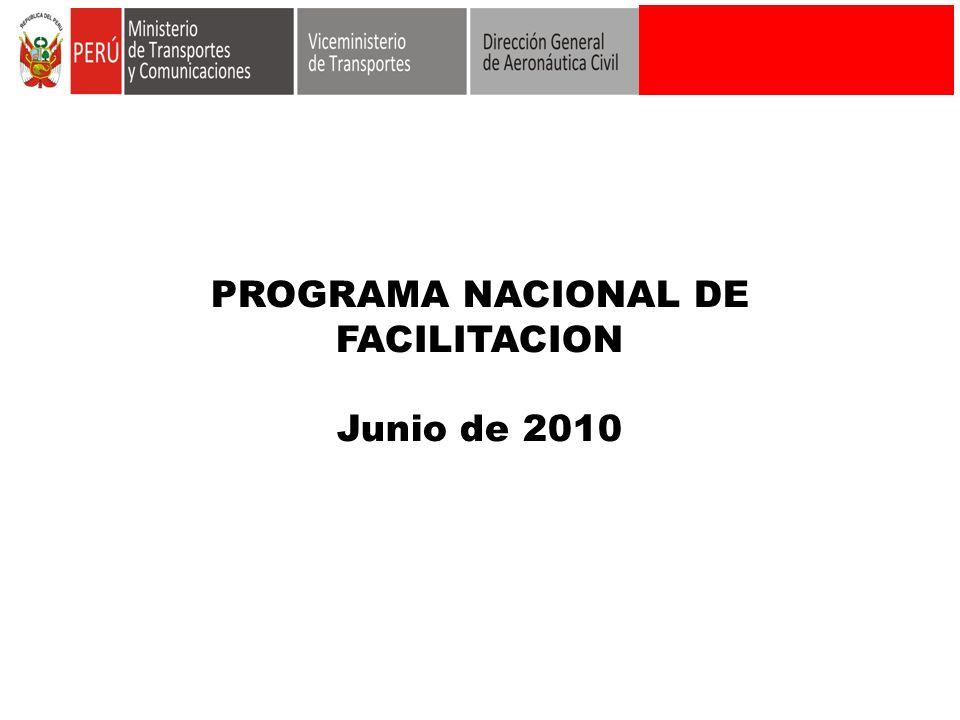 PROGRAMA NACIONAL DE FACILITACION