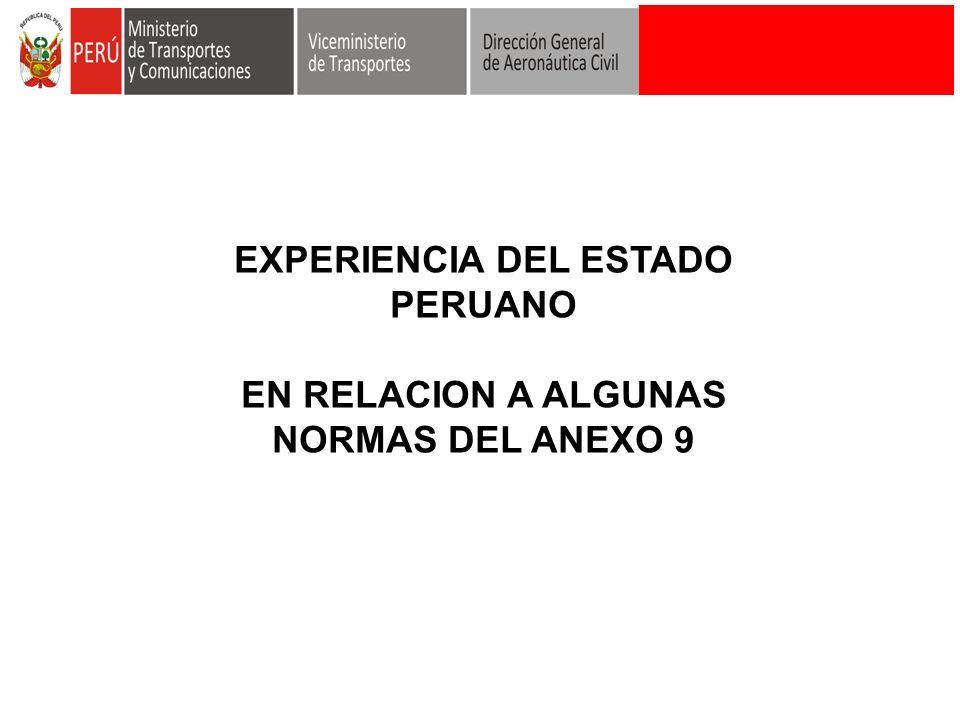 EXPERIENCIA DEL ESTADO PERUANO