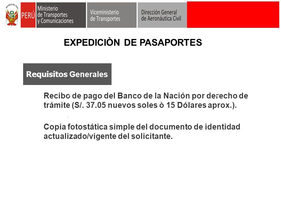 EXPEDICIÒN DE PASAPORTES