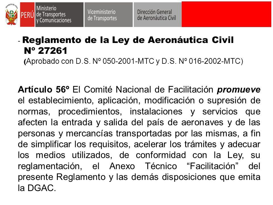 Reglamento de la Ley de Aeronáutica Civil