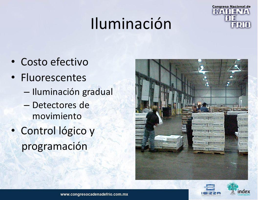 Iluminación Costo efectivo Fluorescentes Control lógico y programación