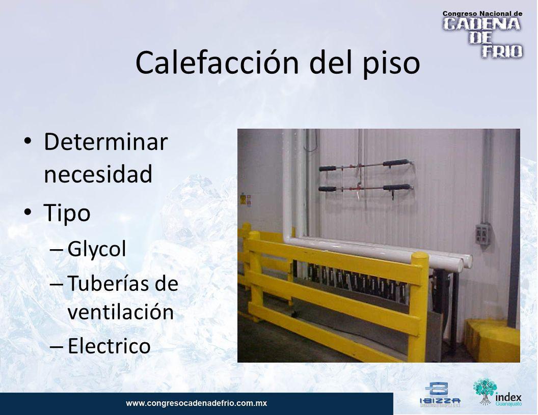 Calefacción del piso Determinar necesidad Tipo Glycol
