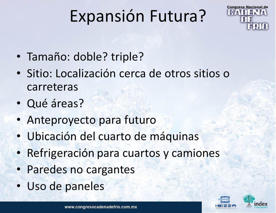 Expansión Futura Tamaño: doble triple