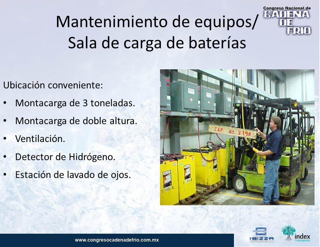 Mantenimiento de equipos/ Sala de carga de baterías