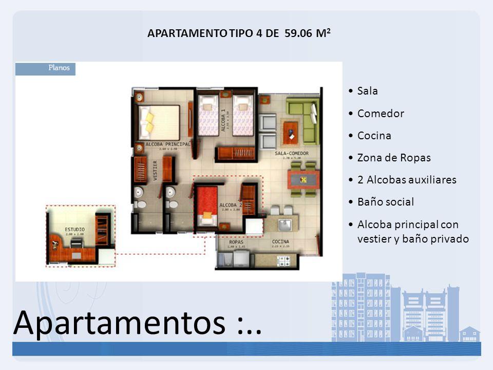 Apartamentos :.. APARTAMENTO TIPO 4 DE 59.06 M2 Sala Comedor Cocina