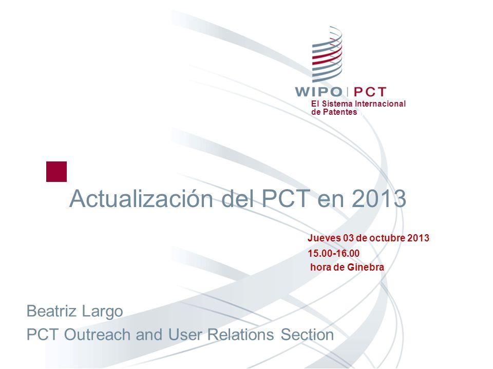 Actualización del PCT en 2013