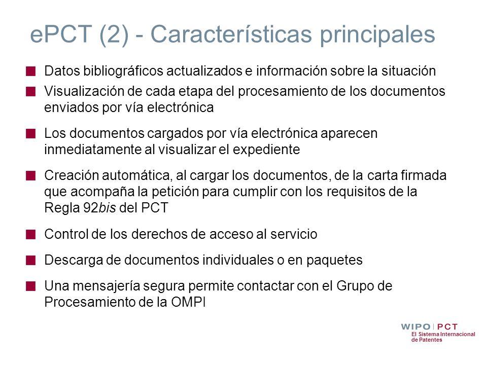 ePCT (2) - Características principales