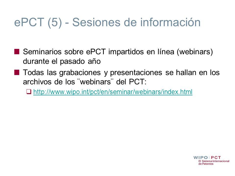 ePCT (5) - Sesiones de información
