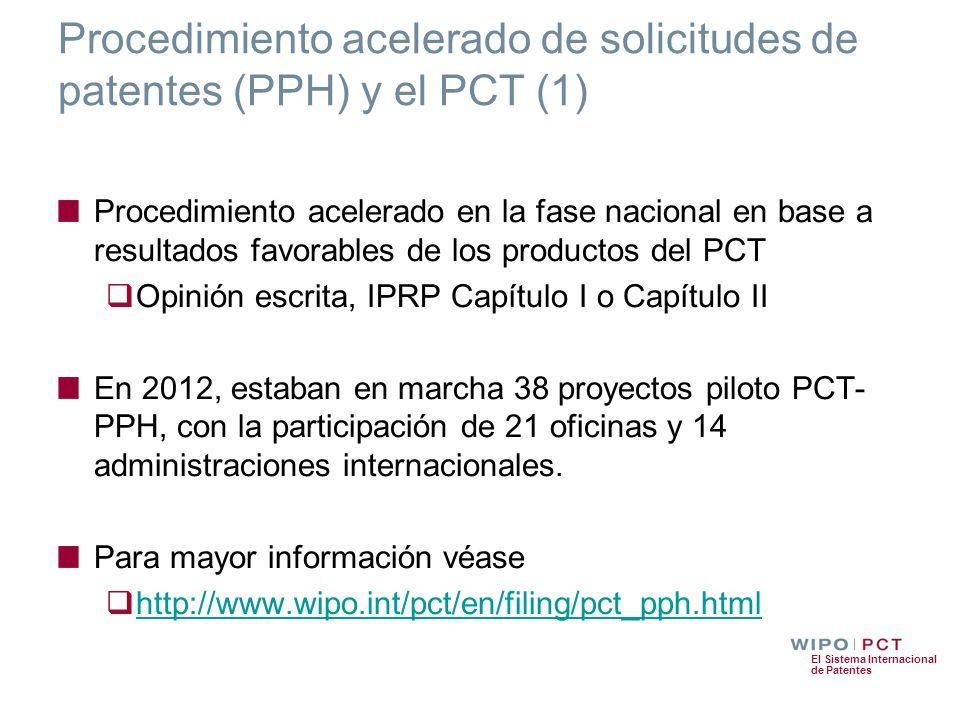 Procedimiento acelerado de solicitudes de patentes (PPH) y el PCT (1)