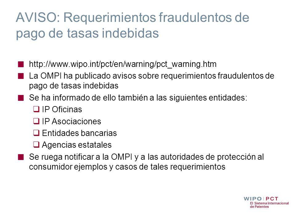 AVISO: Requerimientos fraudulentos de pago de tasas indebidas