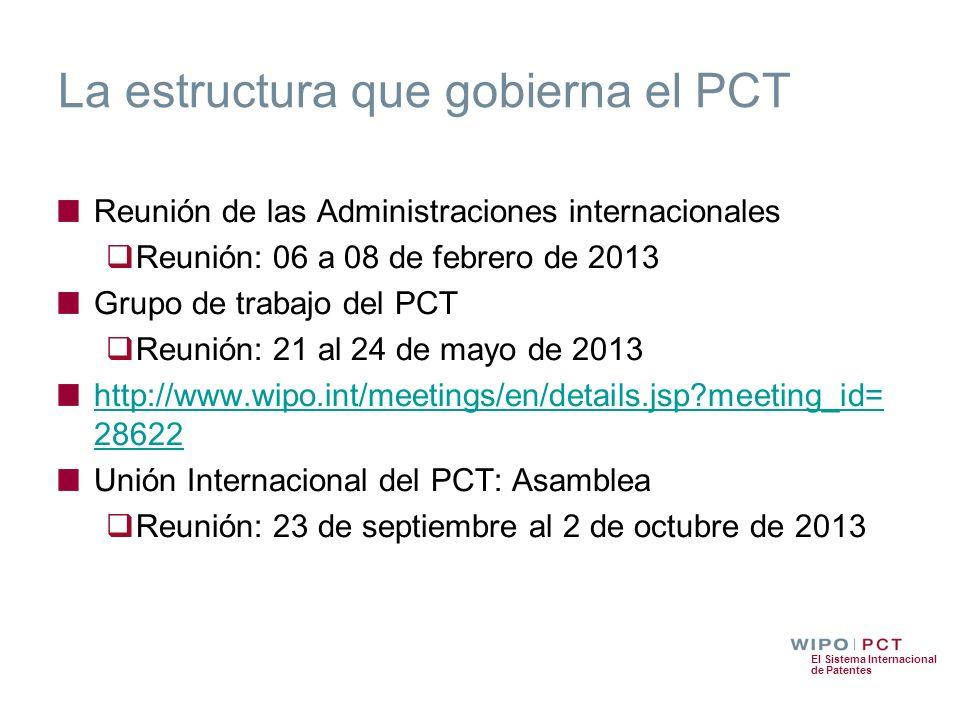 La estructura que gobierna el PCT