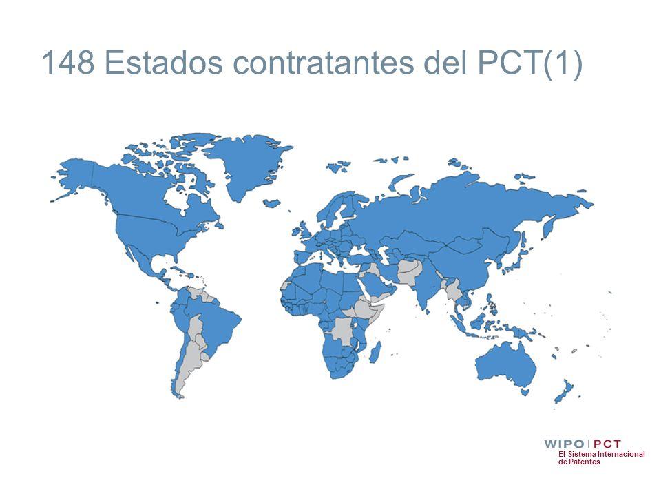 148 Estados contratantes del PCT(1)