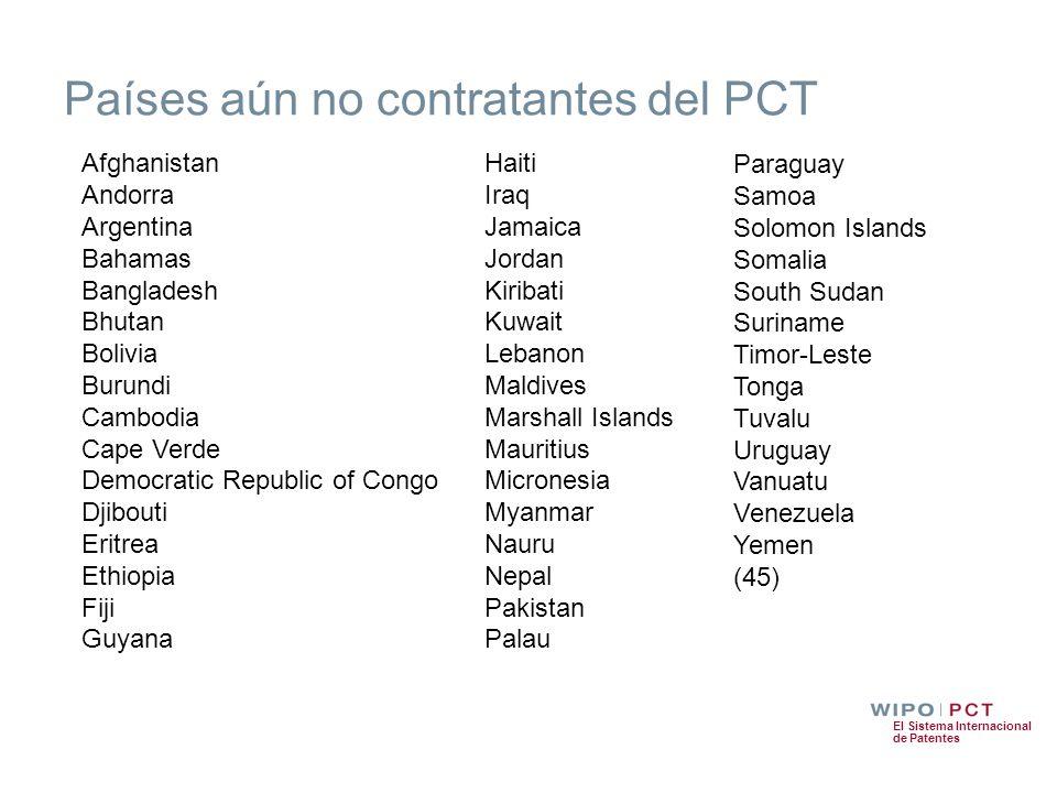 Países aún no contratantes del PCT