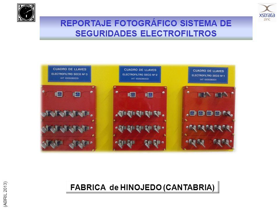 REPORTAJE FOTOGRÁFICO SISTEMA DE SEGURIDADES ELECTROFILTROS