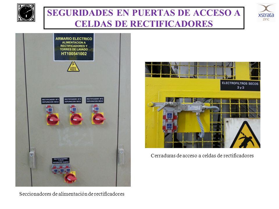 SEGURIDADES EN PUERTAS DE ACCESO A CELDAS DE RECTIFICADORES