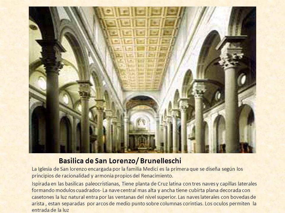 Basilica de San Lorenzo/ Brunelleschi