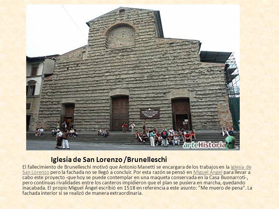 Iglesia de San Lorenzo /Brunelleschi