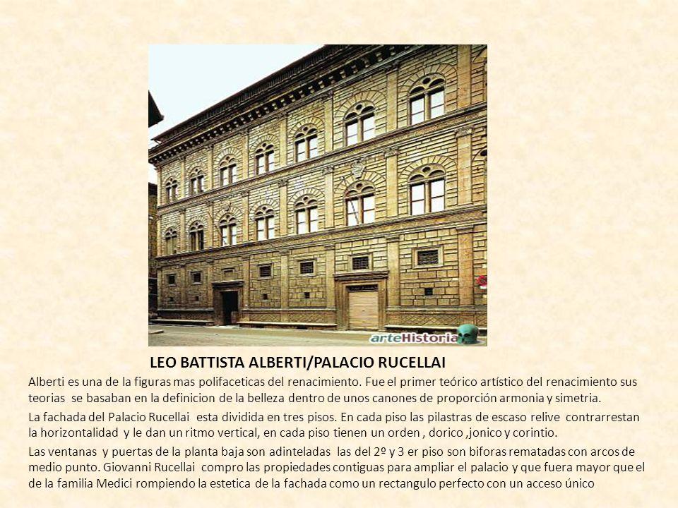 LEO BATTISTA ALBERTI/PALACIO RUCELLAI