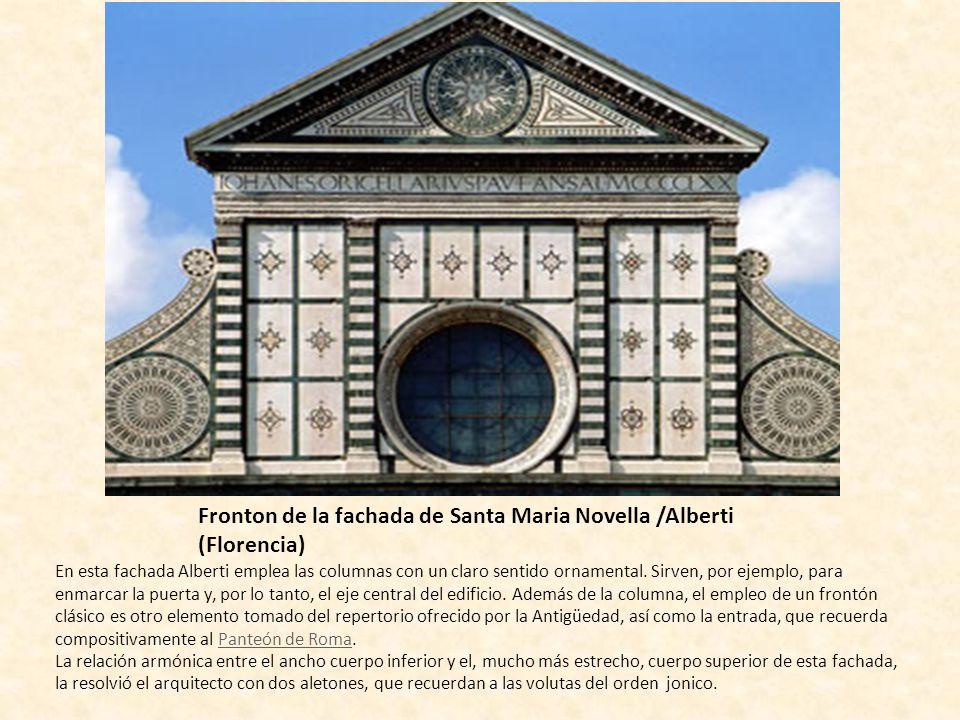 Fronton de la fachada de Santa Maria Novella /Alberti (Florencia)
