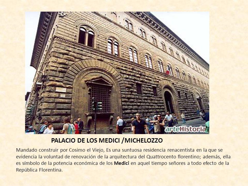PALACIO DE LOS MEDICI /MICHELOZZO