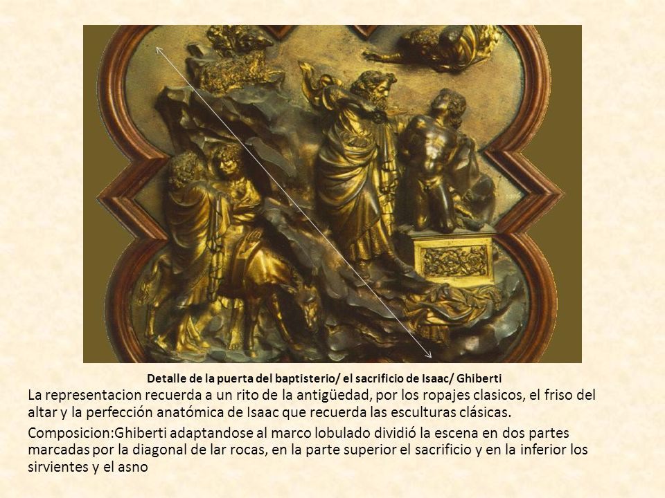 Detalle de la puerta del baptisterio/ el sacrificio de Isaac/ Ghiberti