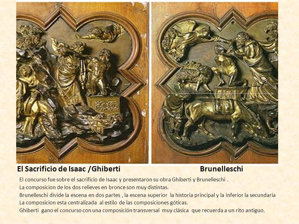 El Sacrificio de Isaac /Ghiberti Brunelleschi