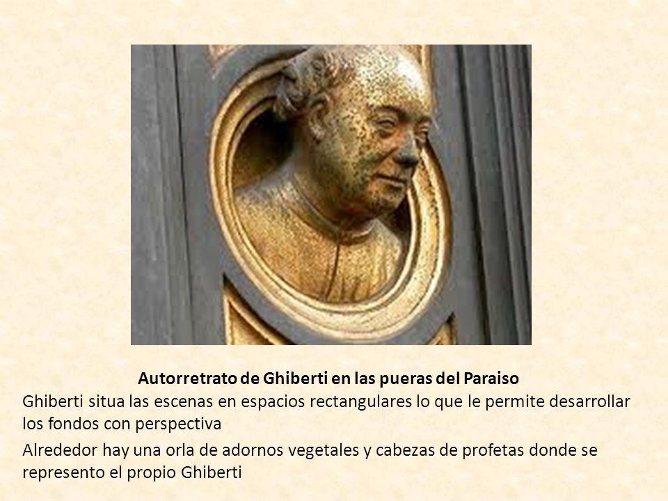Autorretrato de Ghiberti en las pueras del Paraiso