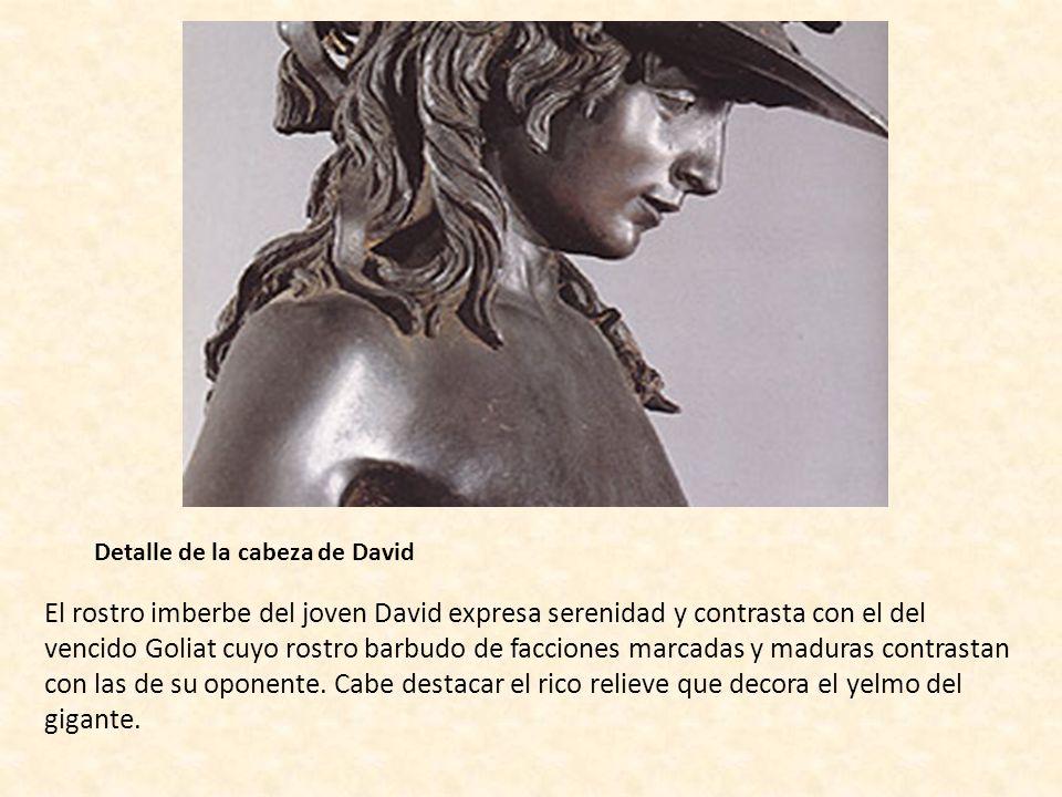 Detalle de la cabeza de David
