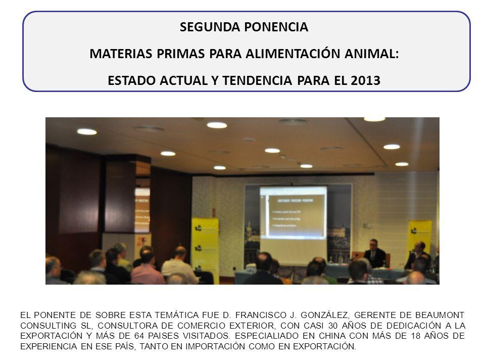 MATERIAS PRIMAS PARA ALIMENTACIÓN ANIMAL: