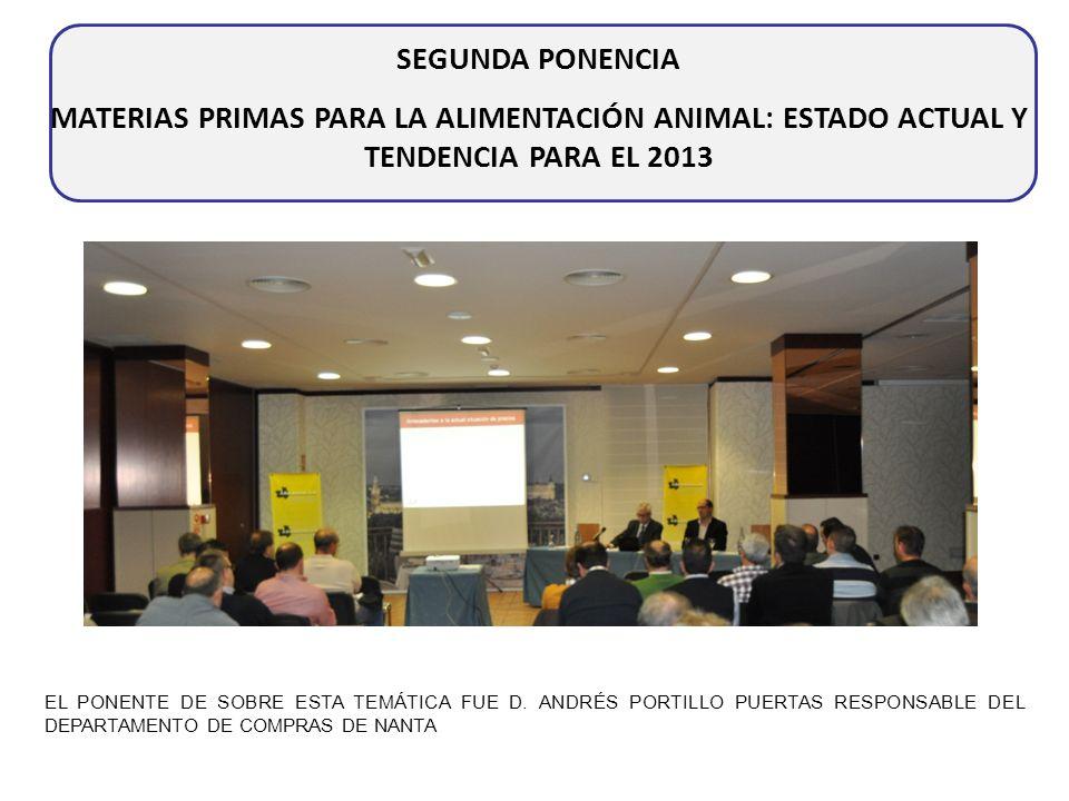 SEGUNDA PONENCIA MATERIAS PRIMAS PARA LA ALIMENTACIÓN ANIMAL: ESTADO ACTUAL Y TENDENCIA PARA EL 2013.
