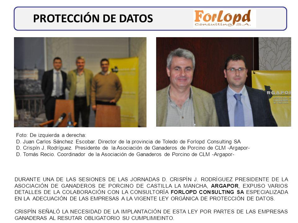 PROTECCIÓN DE DATOS Foto: De izquierda a derecha: