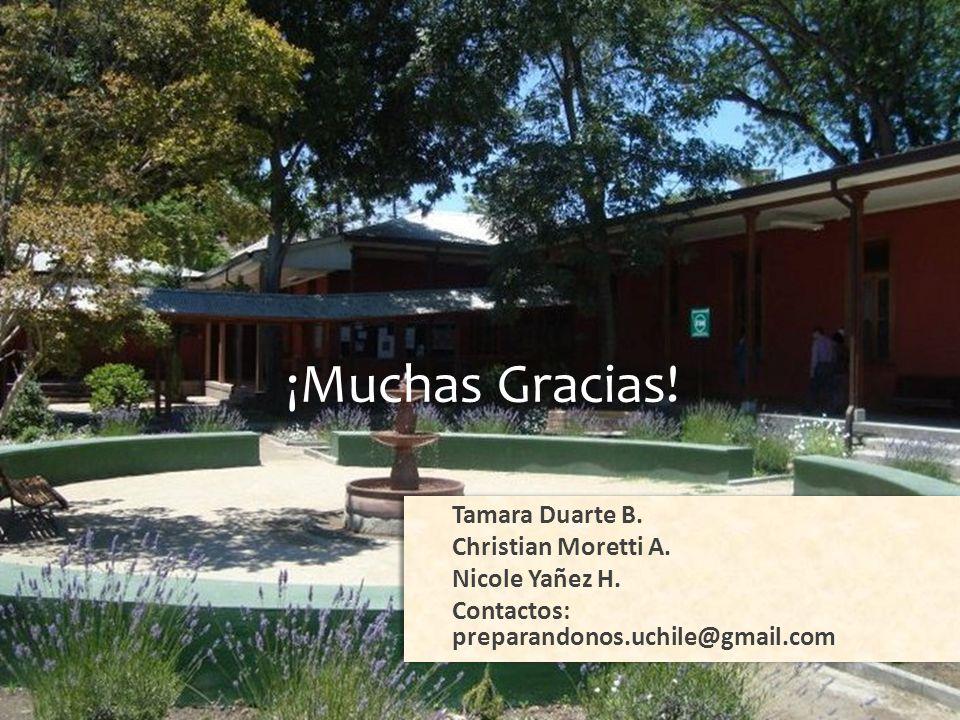 ¡Gracias! ¡Muchas Gracias! Tamara Duarte B. Christian Moretti A.