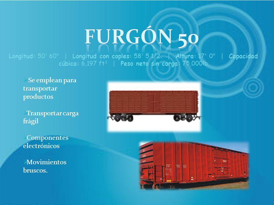 Furgón 50 Se emplean para transportar productos