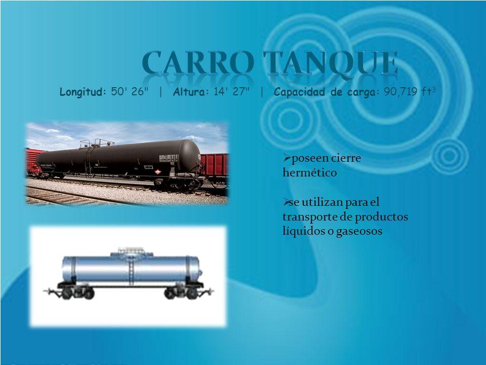 Longitud: 50 26 | Altura: 14 27 | Capacidad de carga: 90,719 ft3