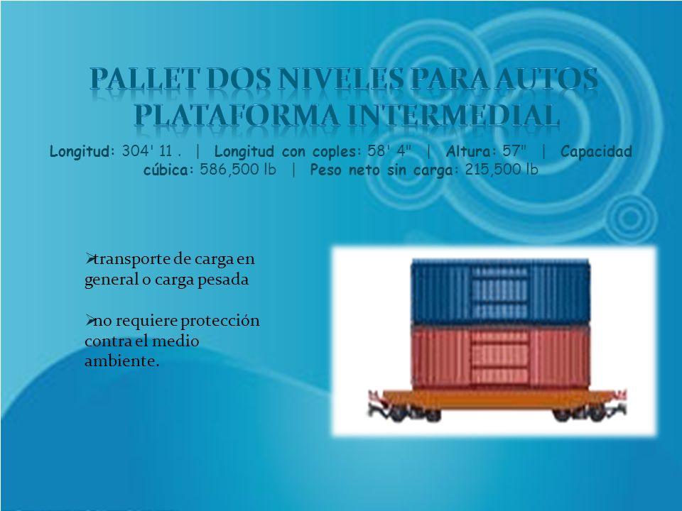 PALLET DOS NIVELES PARA AUTOS PLATAFORMA INTERMEDIAL