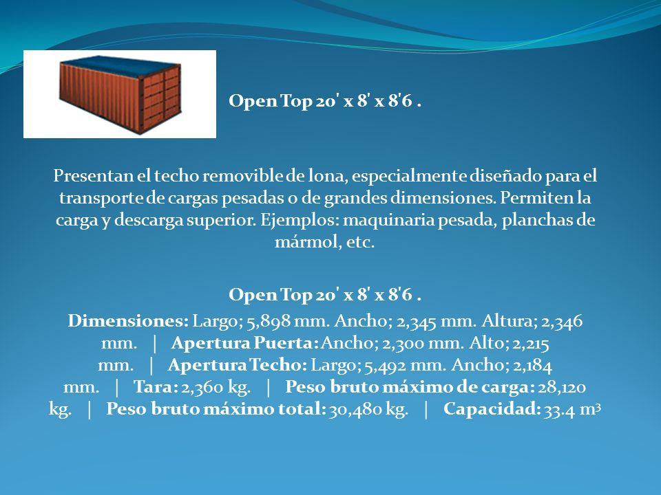 Open Top 20 x 8 x 8 6 .