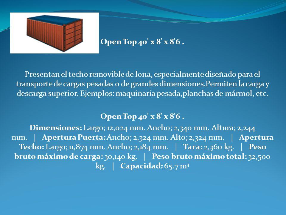 Open Top 40 x 8 x 8 6 .