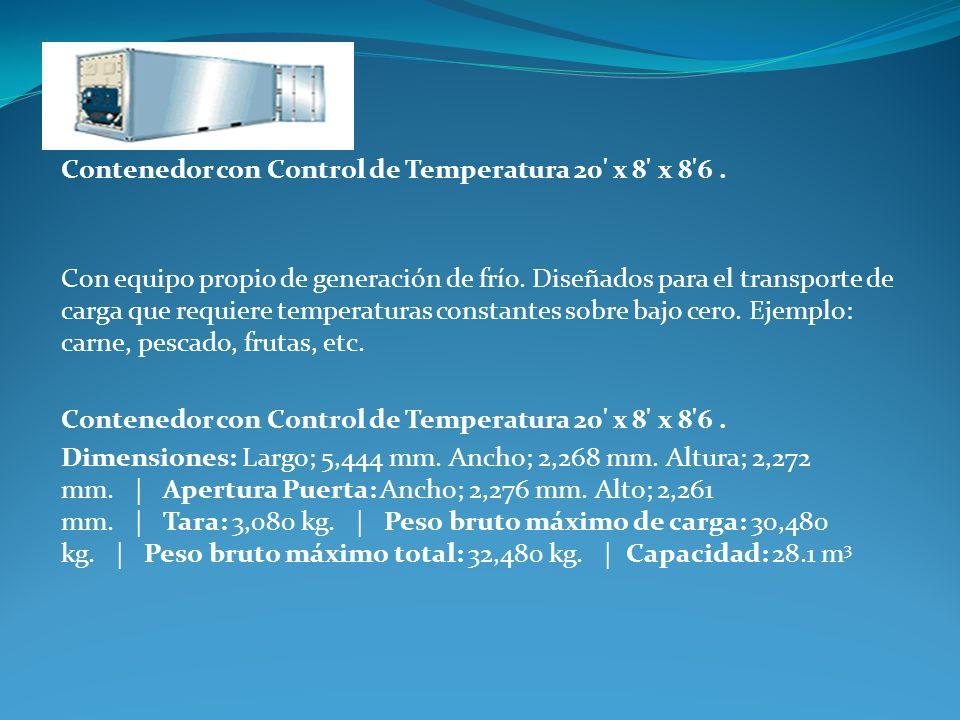 Contenedor con Control de Temperatura 20 x 8 x 8 6 .