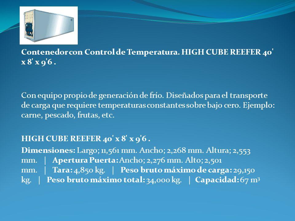Contenedor con Control de Temperatura. HIGH CUBE REEFER 40 x 8 x 9 6 .