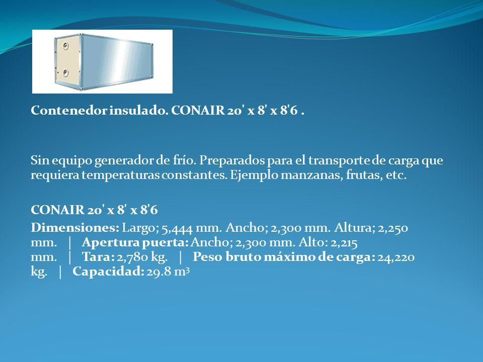 Contenedor insulado. CONAIR 20 x 8 x 8 6 .