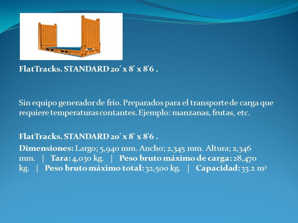 FlatTracks. STANDARD 20 x 8 x 8 6 .