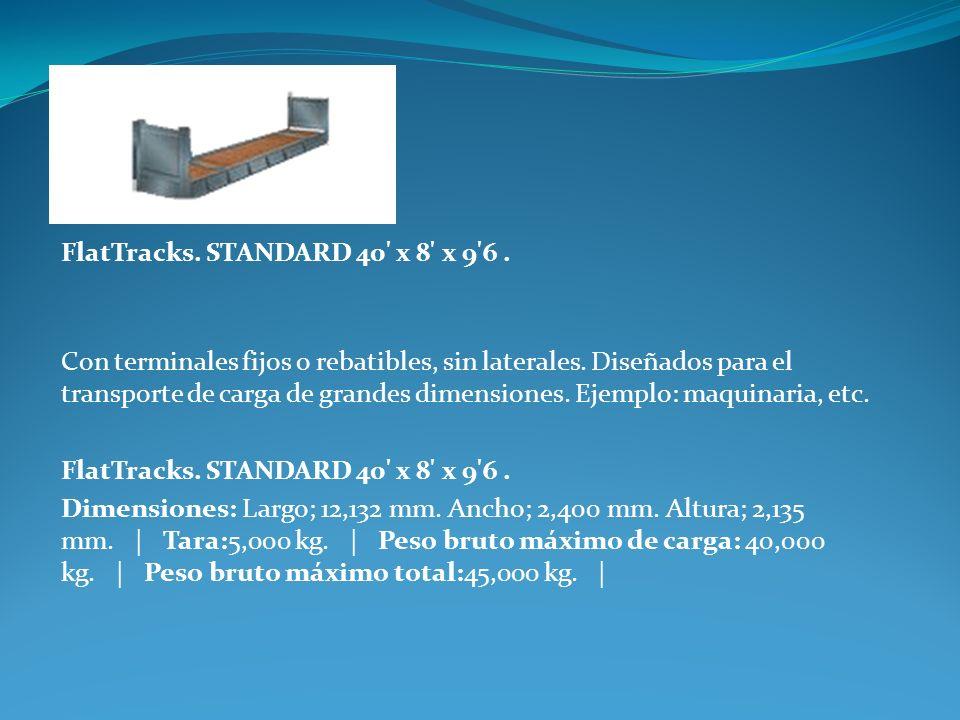 FlatTracks. STANDARD 40 x 8 x 9 6 .