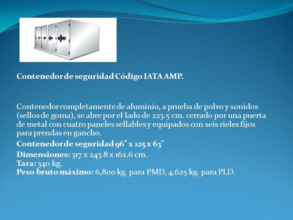 Contenedor de seguridad Código IATA AMP.
